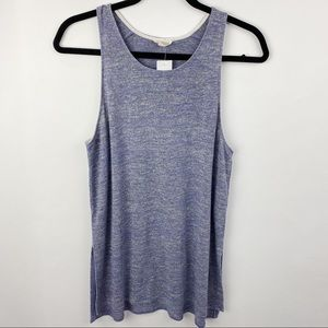 Wilfred blue tank top with slit
